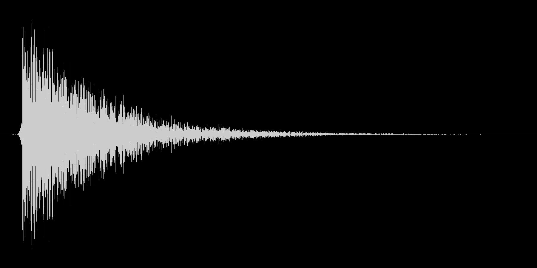 シューティングのビーム攻撃の未再生の波形