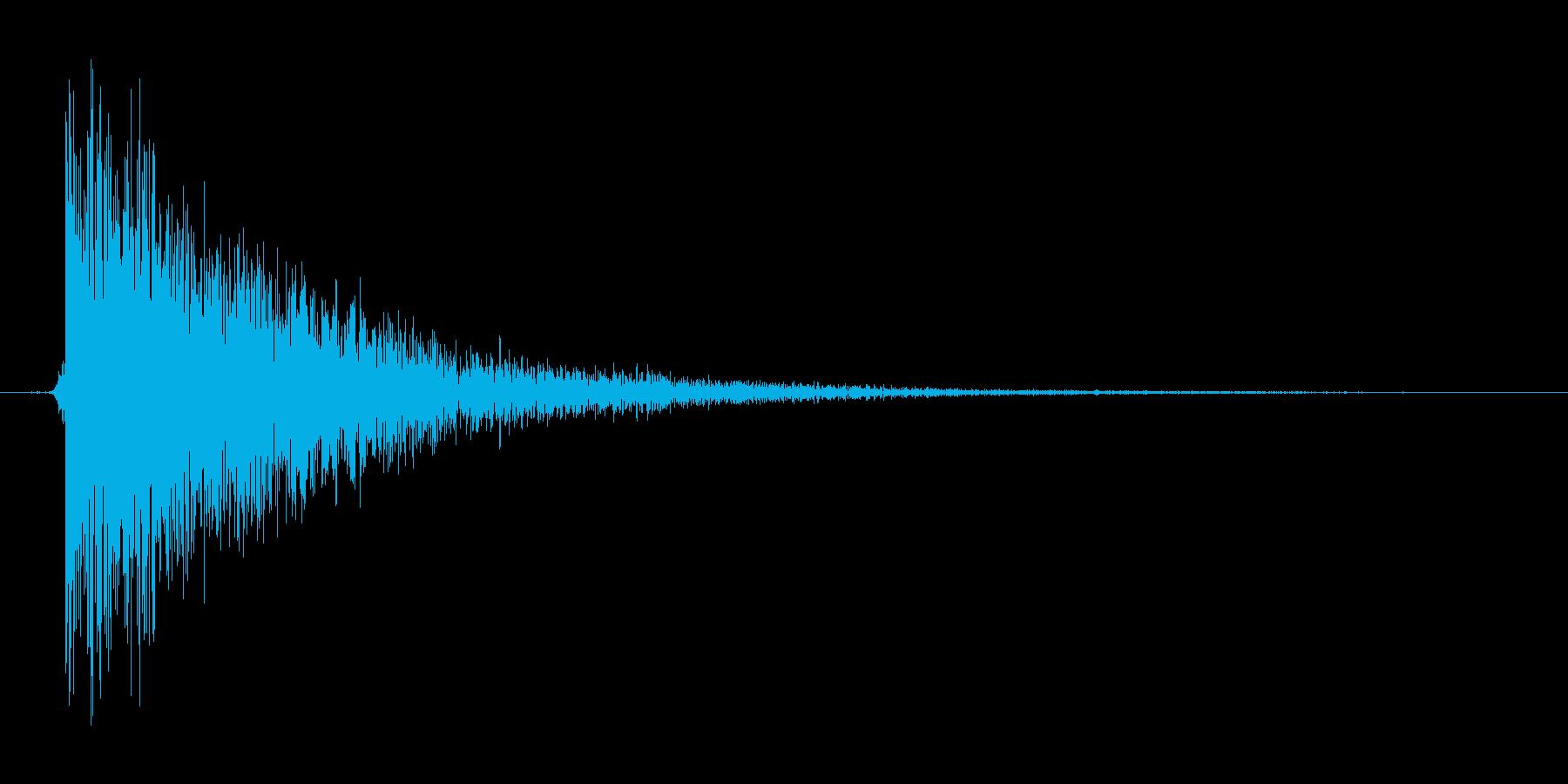 シューティングのビーム攻撃の再生済みの波形