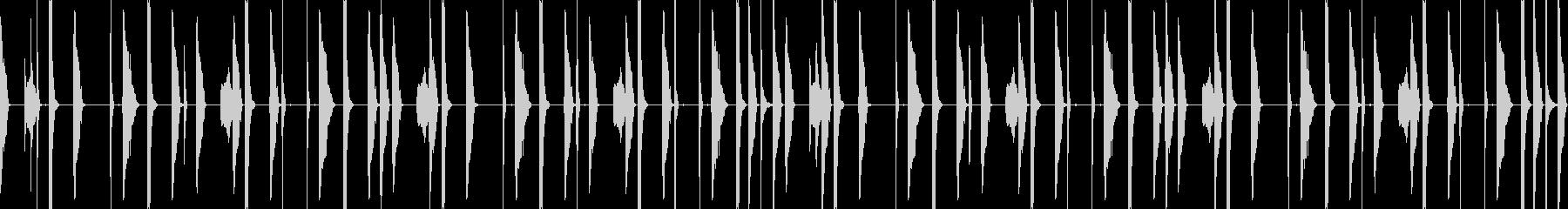 アーバンな都会的hiphopドラムループの未再生の波形