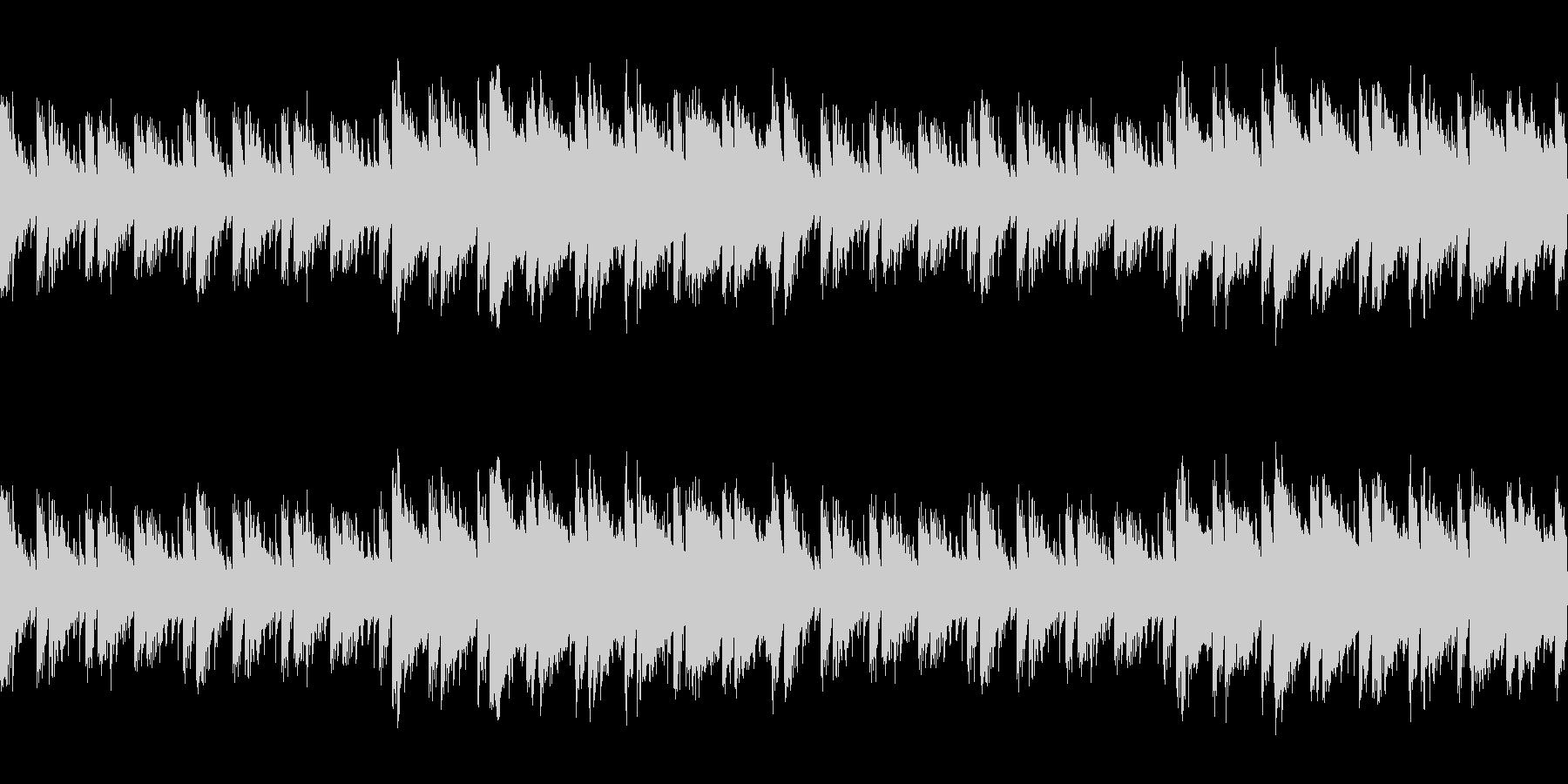 【主張しない背景音楽】ゲーム1【ループ】の未再生の波形