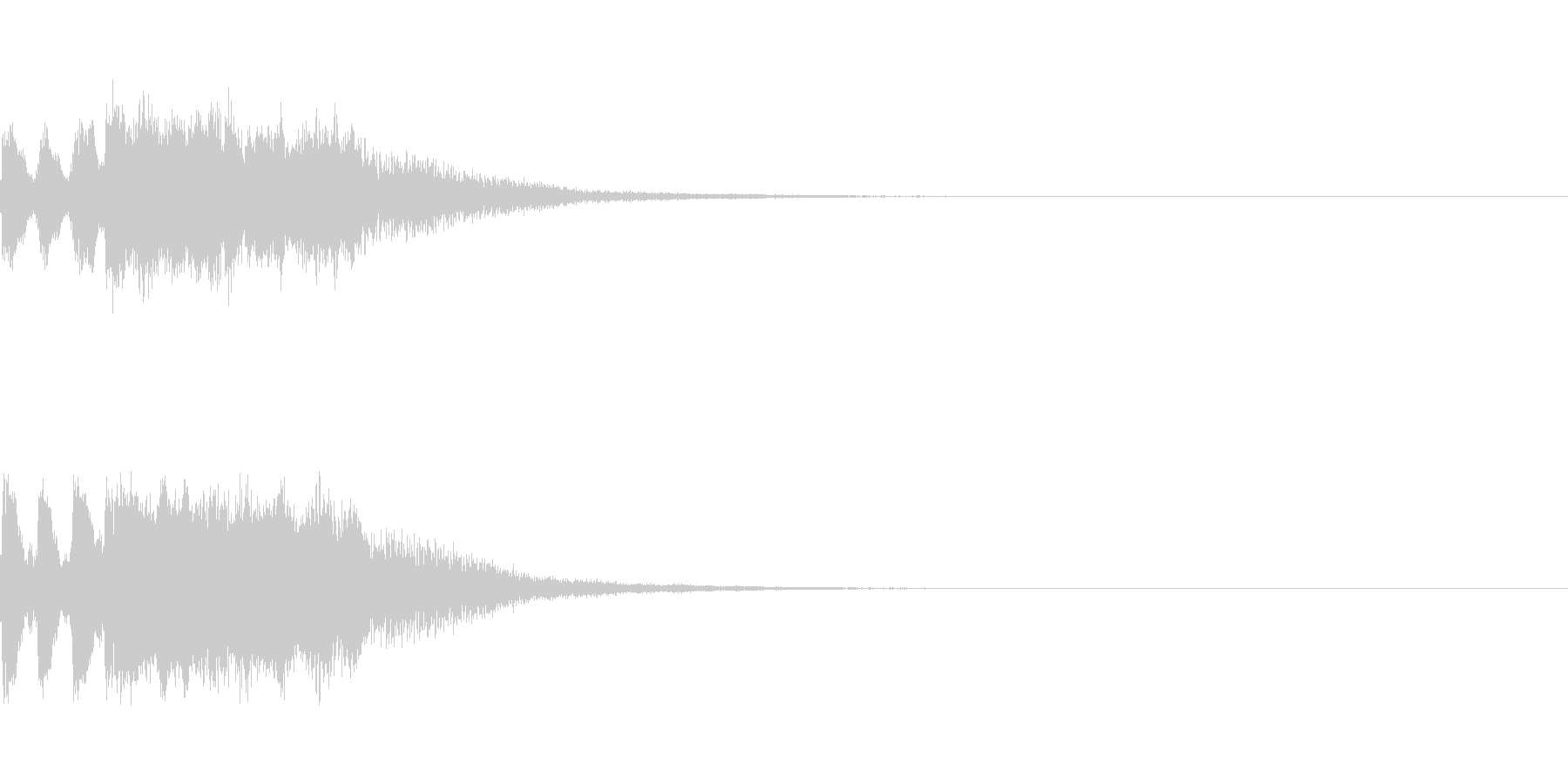 明るいトランペットファンファーレの未再生の波形
