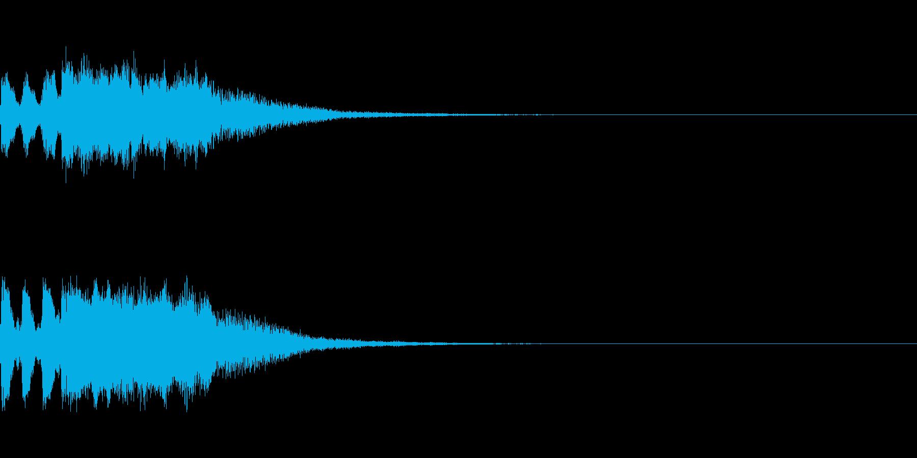 明るいトランペットファンファーレの再生済みの波形