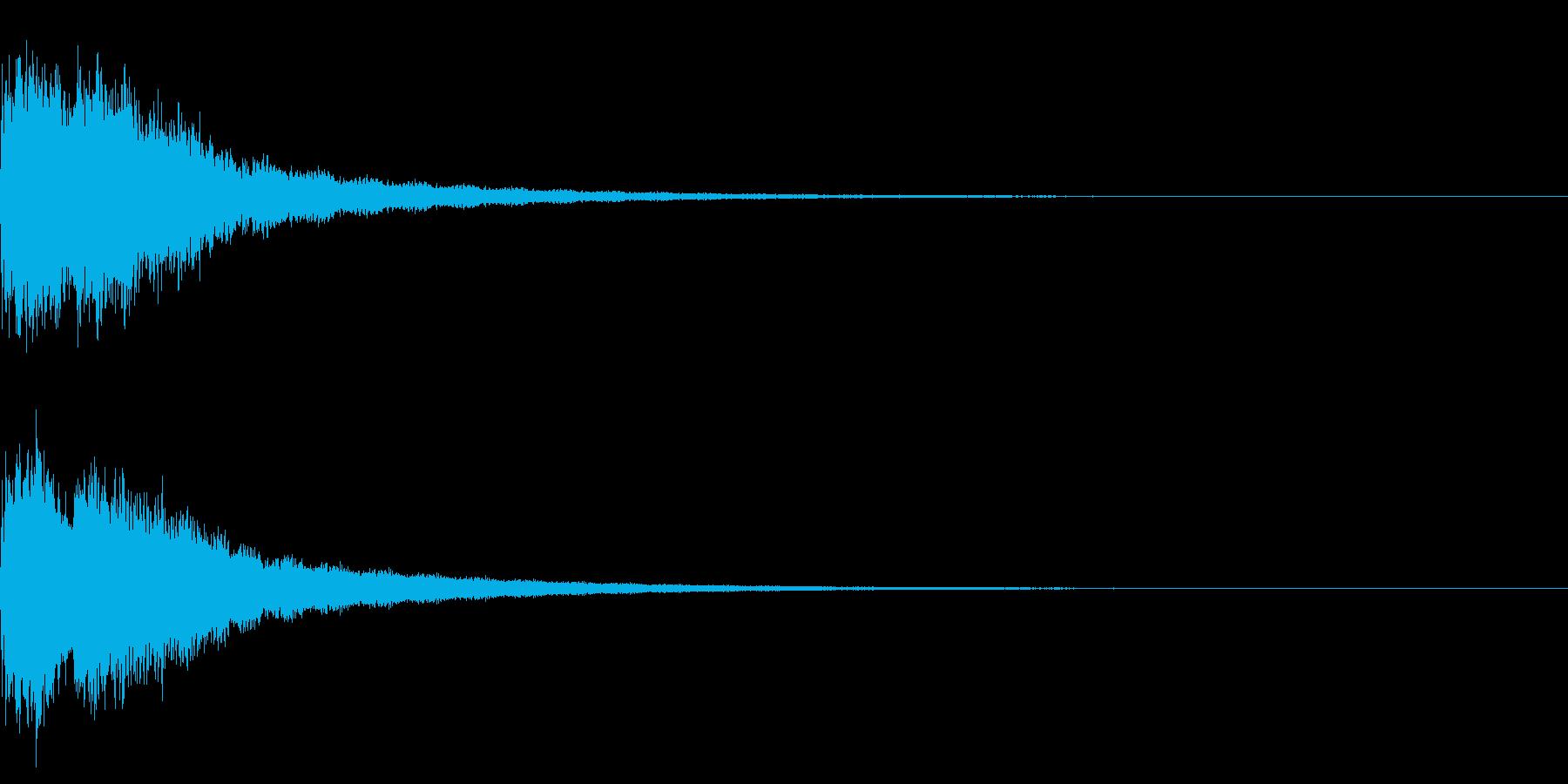 キラキラ☆(星の輝きに最適な効果音)23の再生済みの波形