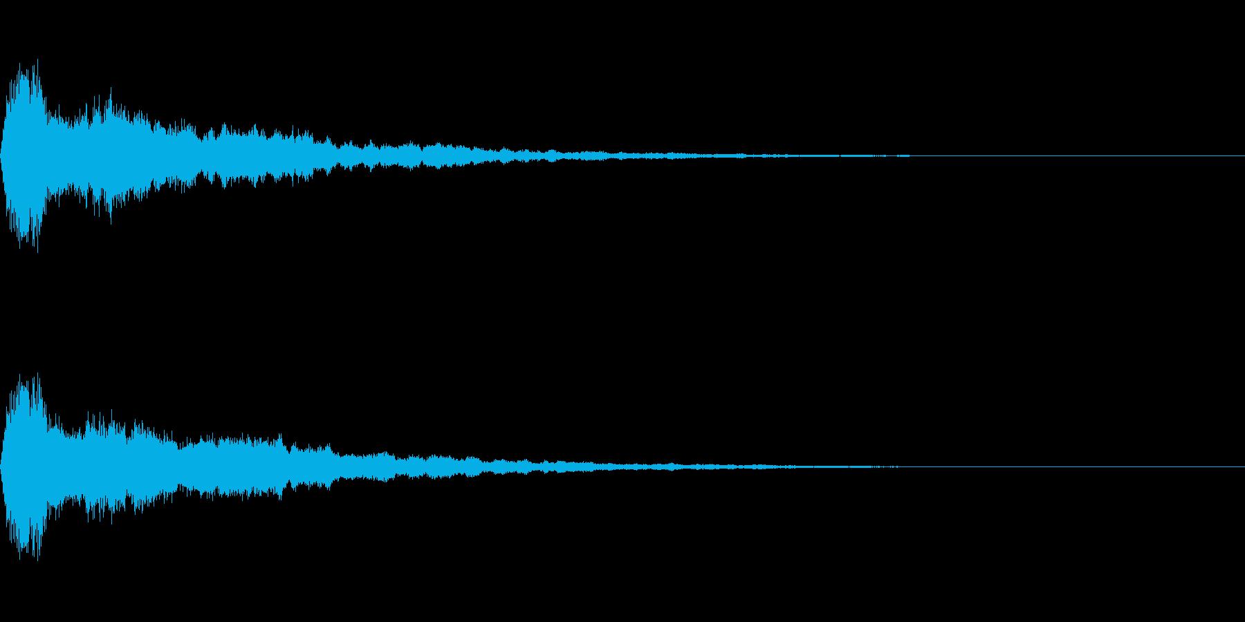 鈴をイメージしたアラーム音(エコー付き)の再生済みの波形