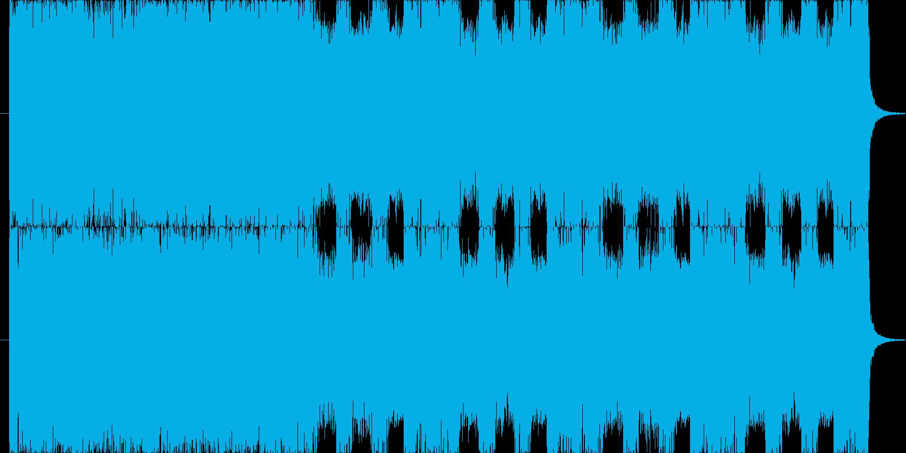 【BGM】 激しく重厚なメタルコアの再生済みの波形