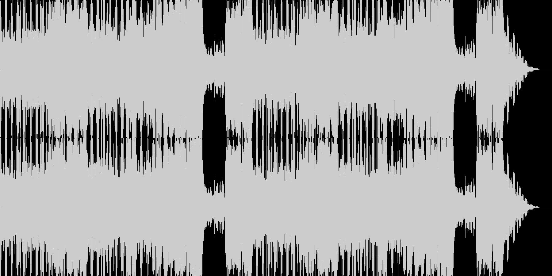 焦燥感を煽るような6拍子の曲の未再生の波形