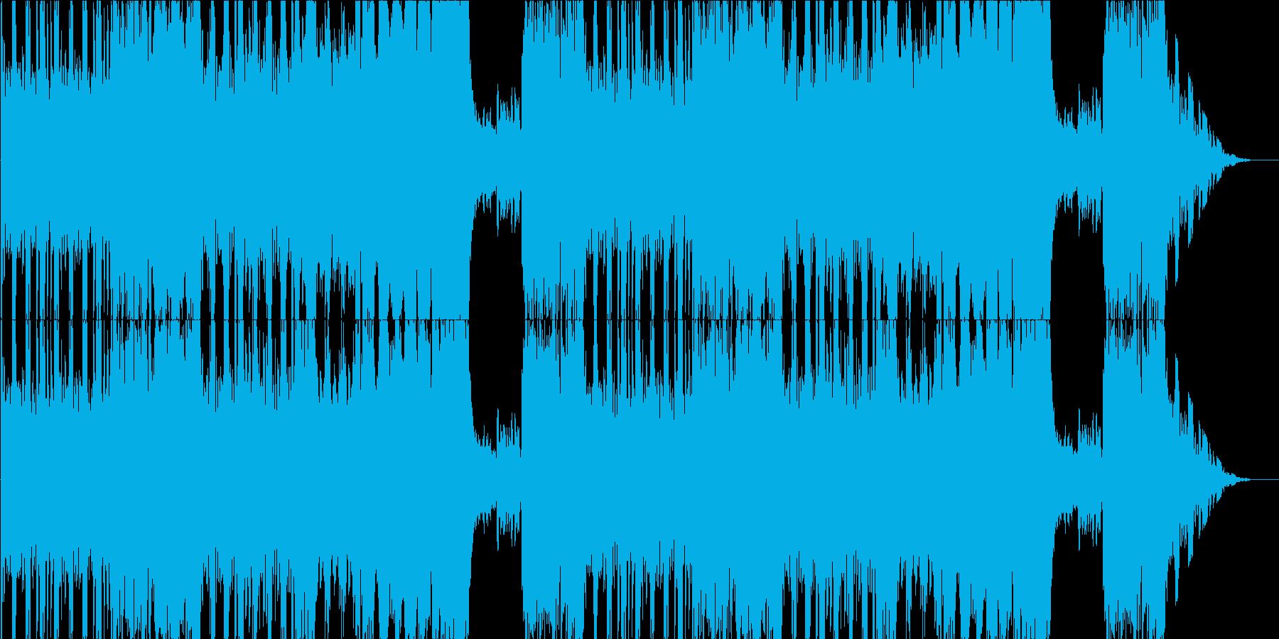 焦燥感を煽るような6拍子の曲の再生済みの波形