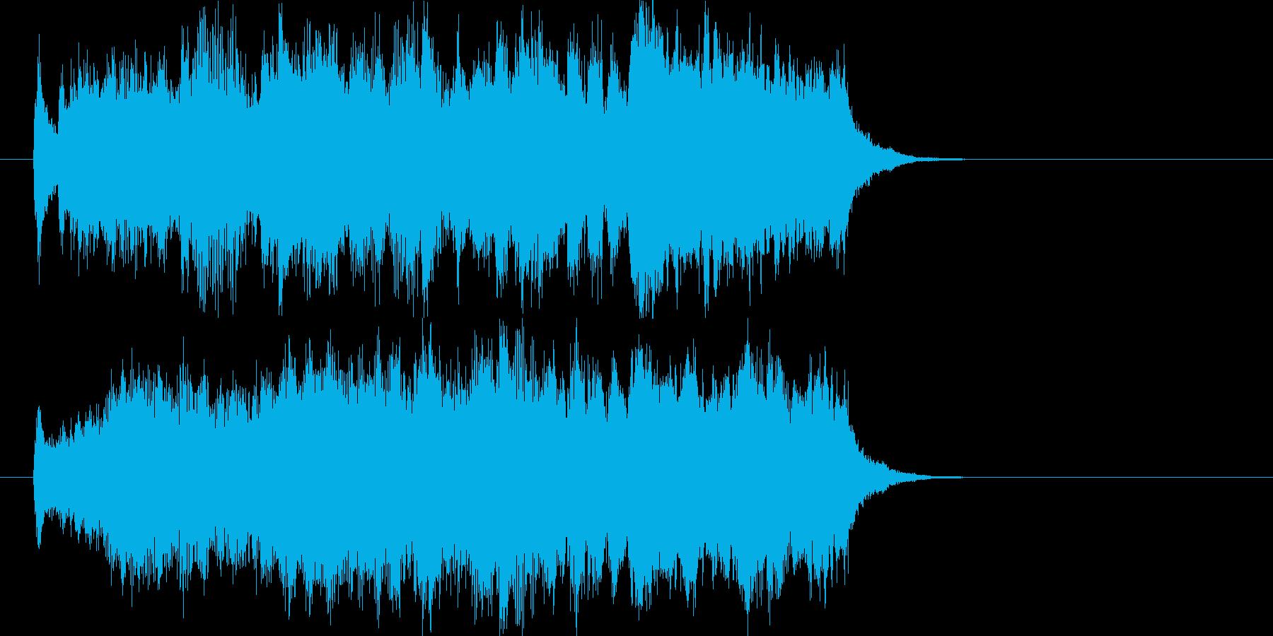 式典・発表などに!華やかなファンファーレの再生済みの波形