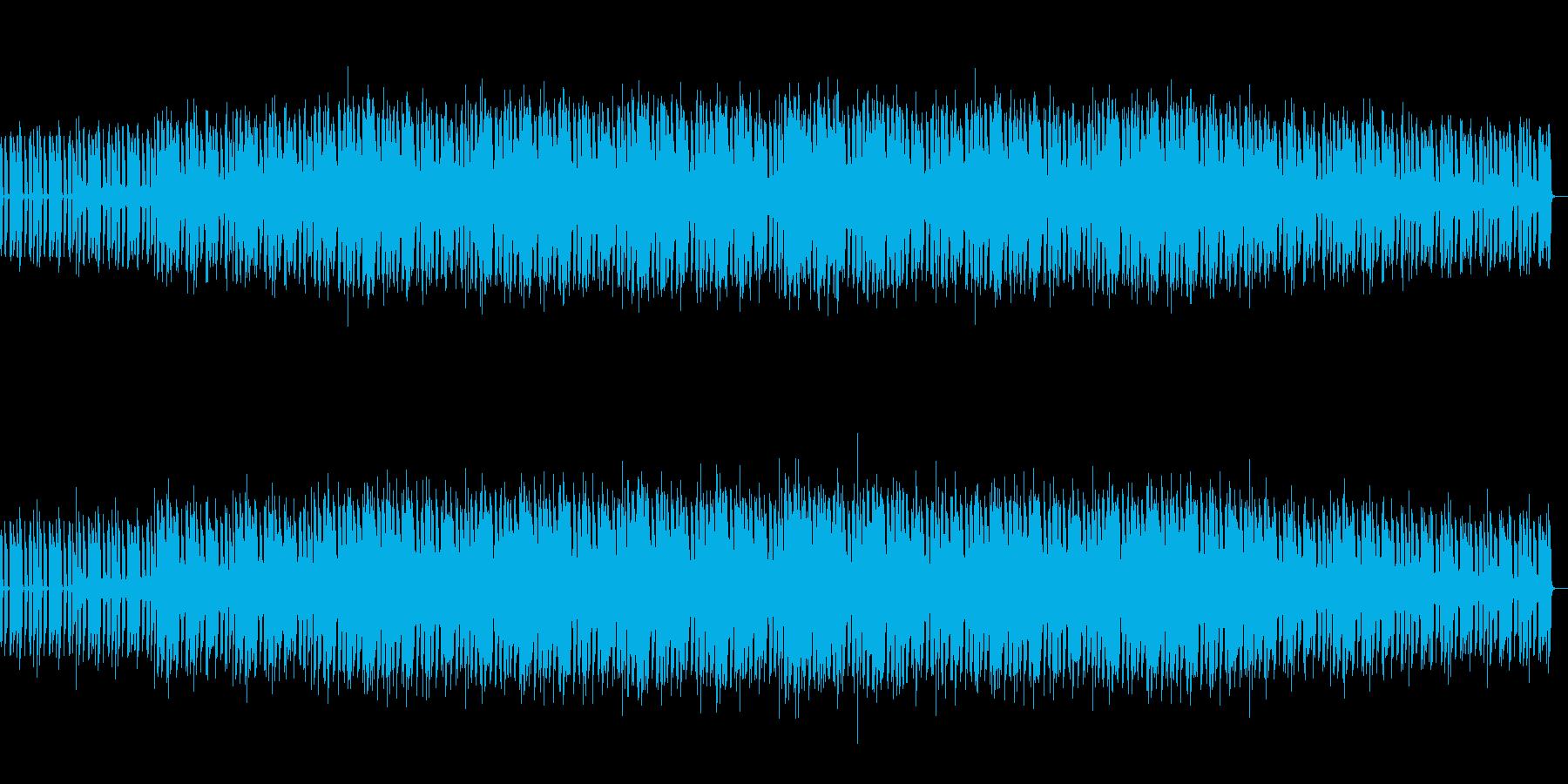 宇宙をイメージした曲の再生済みの波形