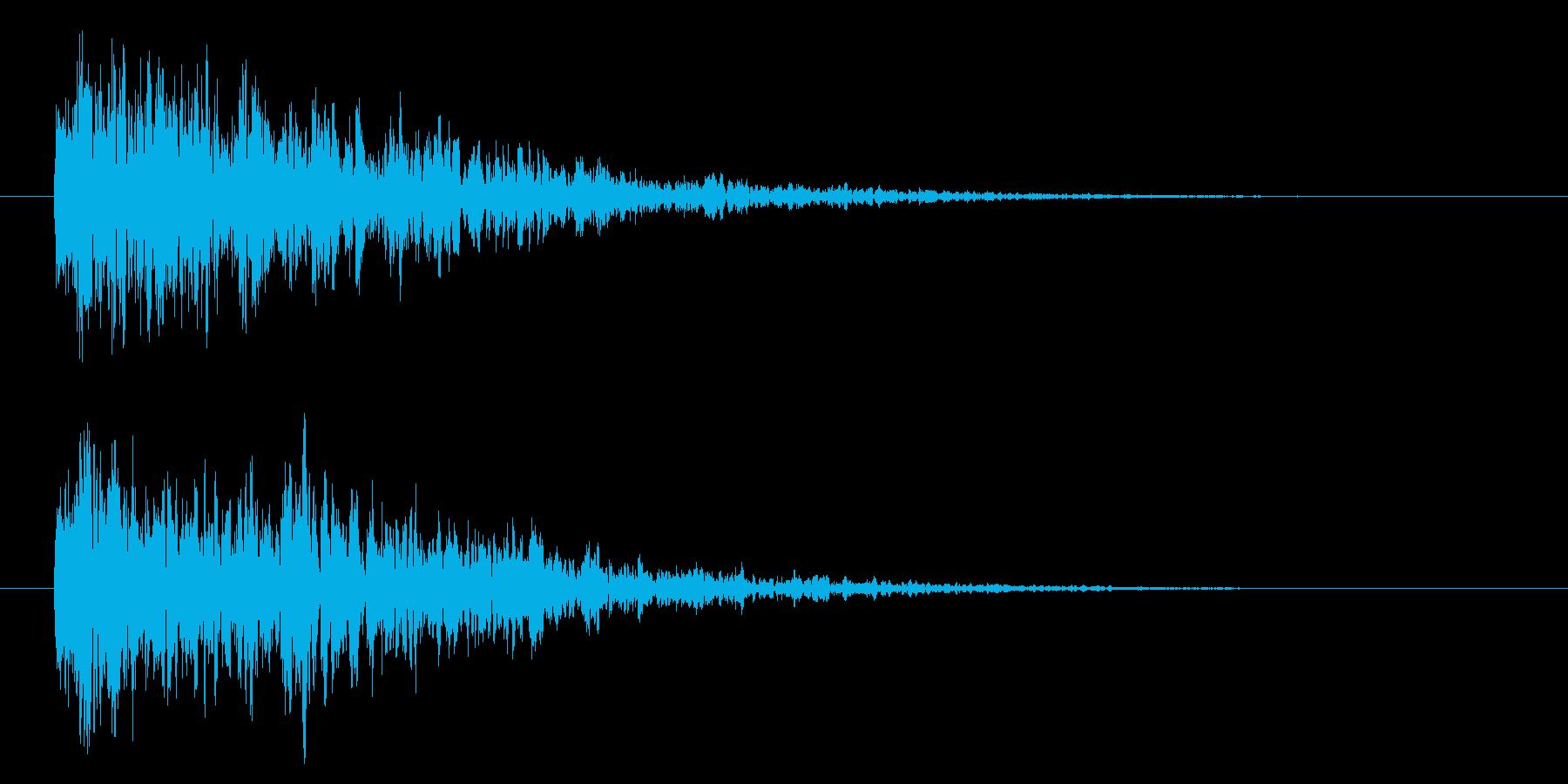【アクセント45-1】の再生済みの波形