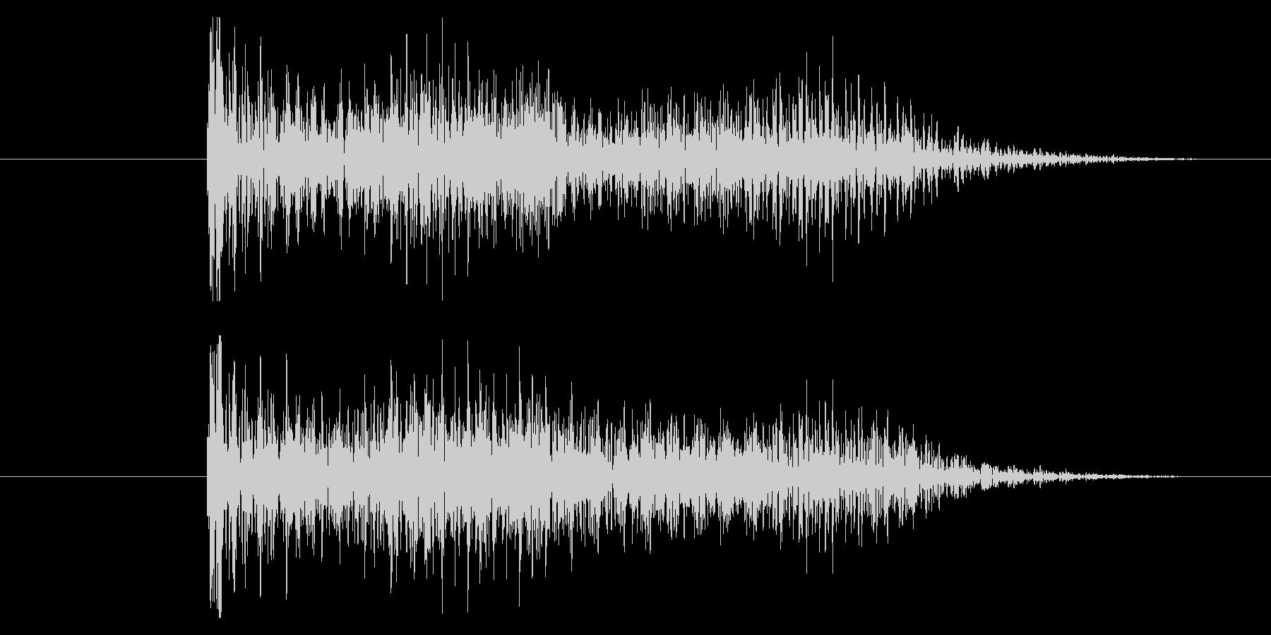 ゲームオーバー効果音 ダダーッ ブブーッの未再生の波形