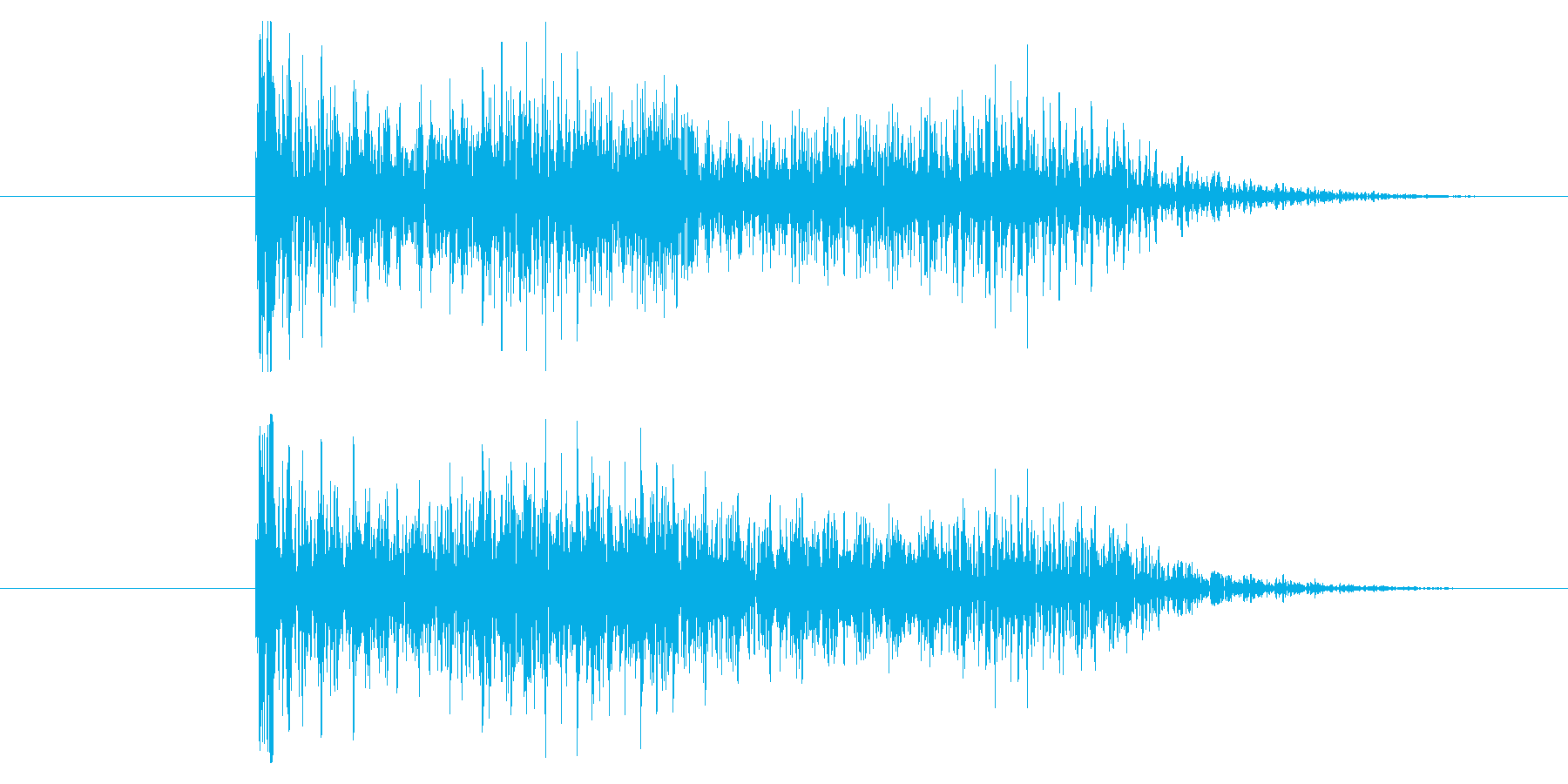 ゲームオーバー効果音 ダダーッ ブブーッの再生済みの波形