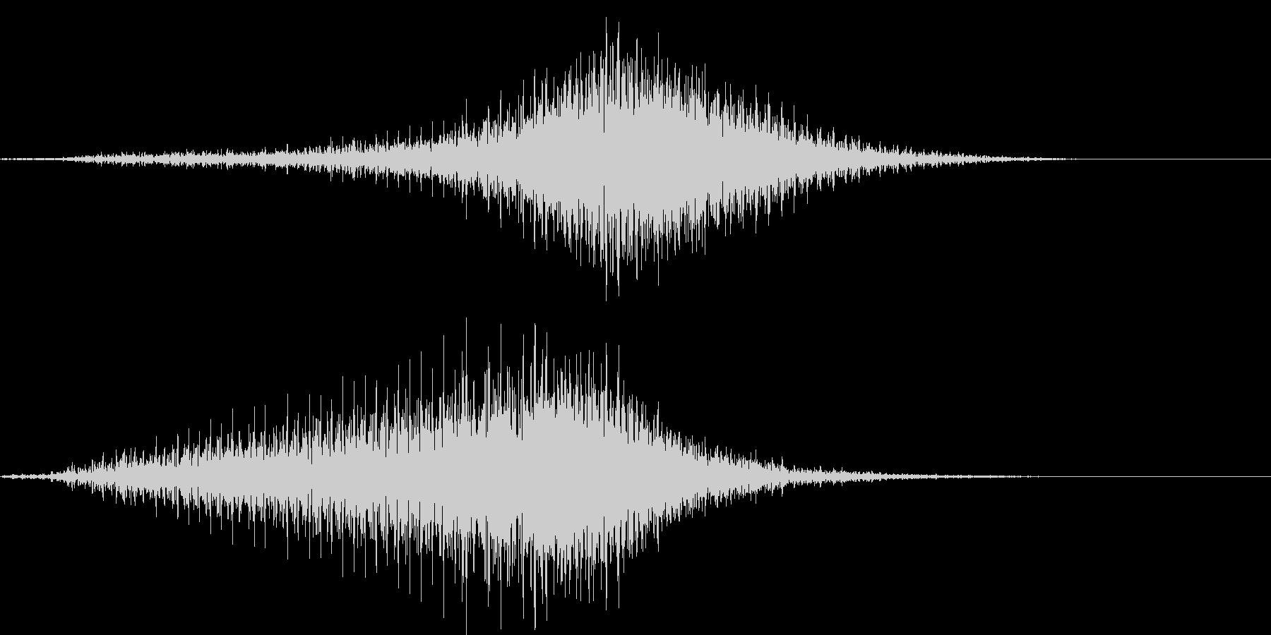 【輸送機】ブルブル,バラバラ 右から左の未再生の波形
