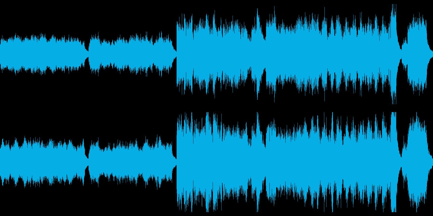 禍々しい城館〜不気味で荘厳なオルガン曲の再生済みの波形