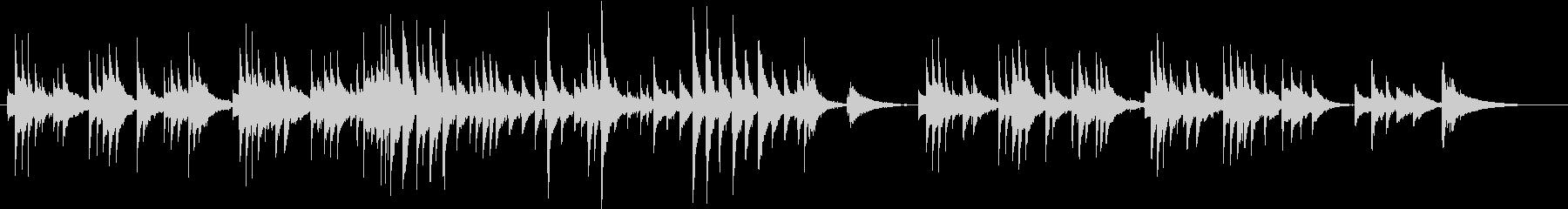 ギターが切ないアコースティックバラードの未再生の波形