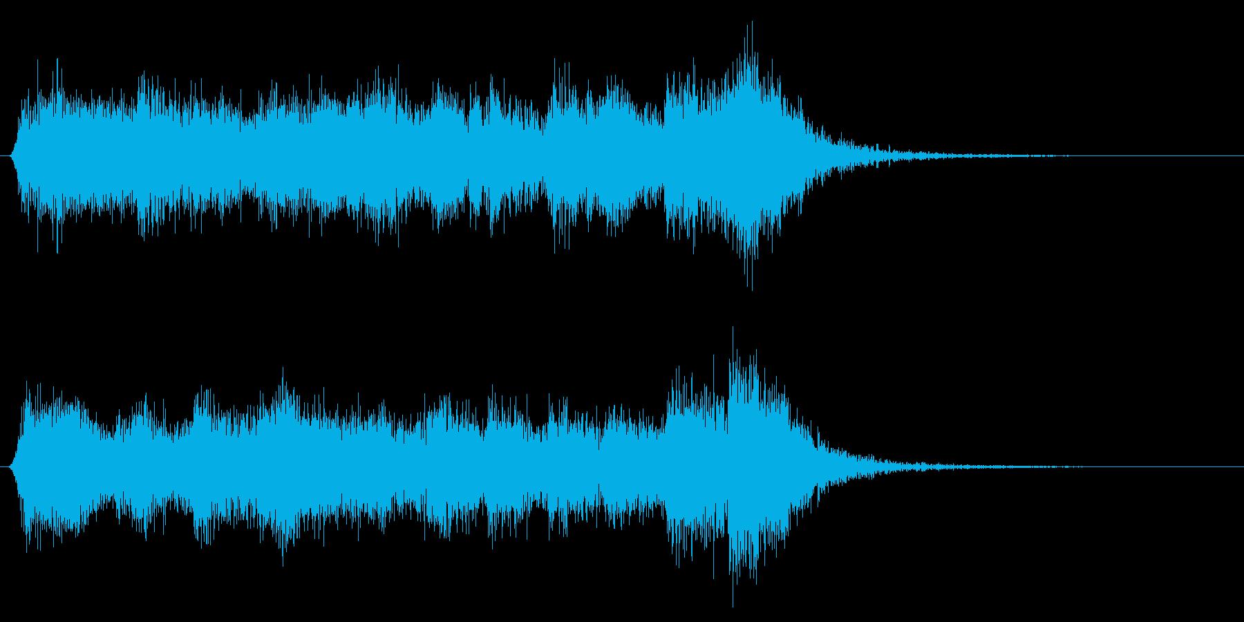 格闘!対決!ダークな管弦楽ファンファーレの再生済みの波形