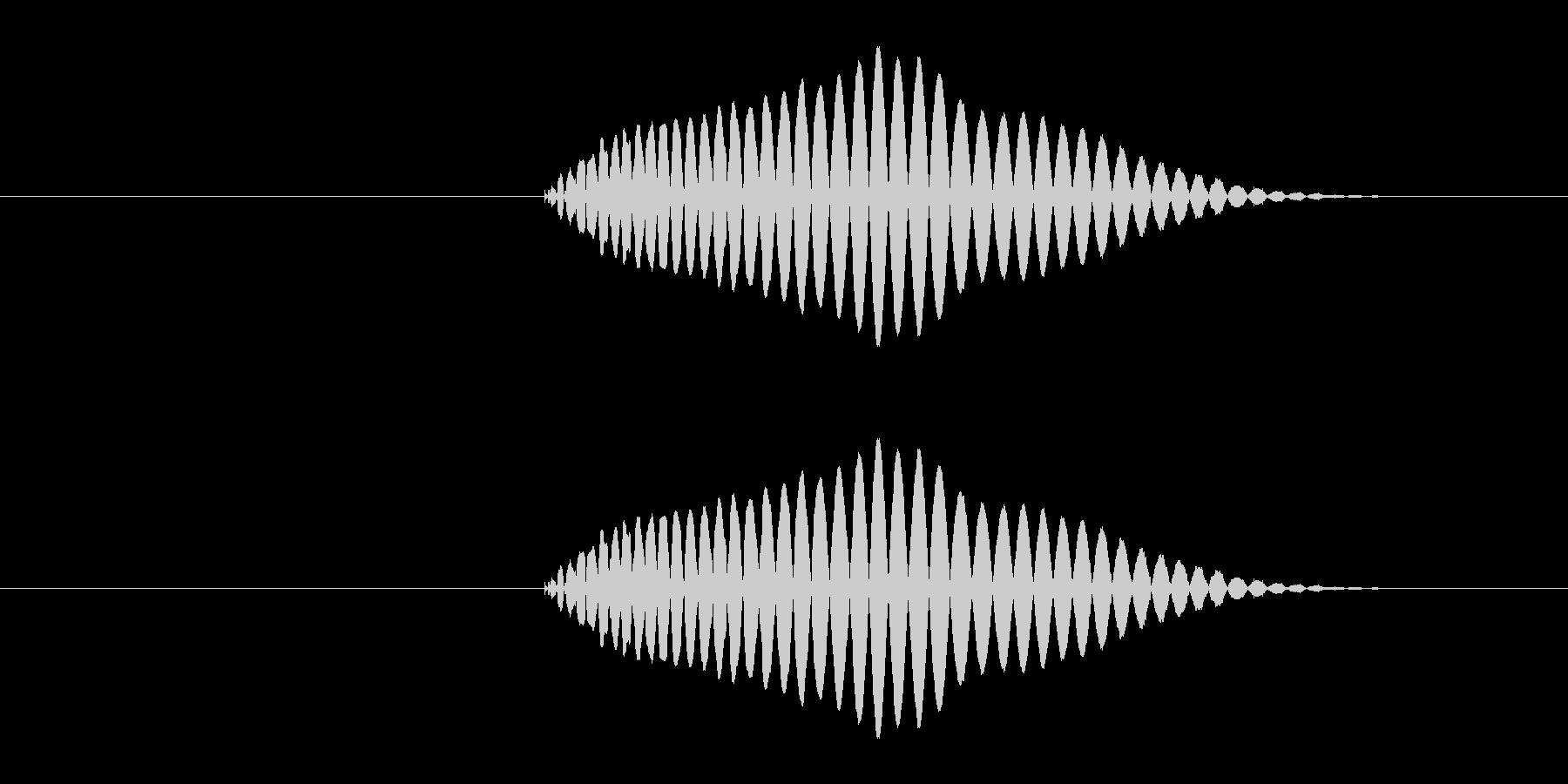 決定・キャンセル音1の未再生の波形