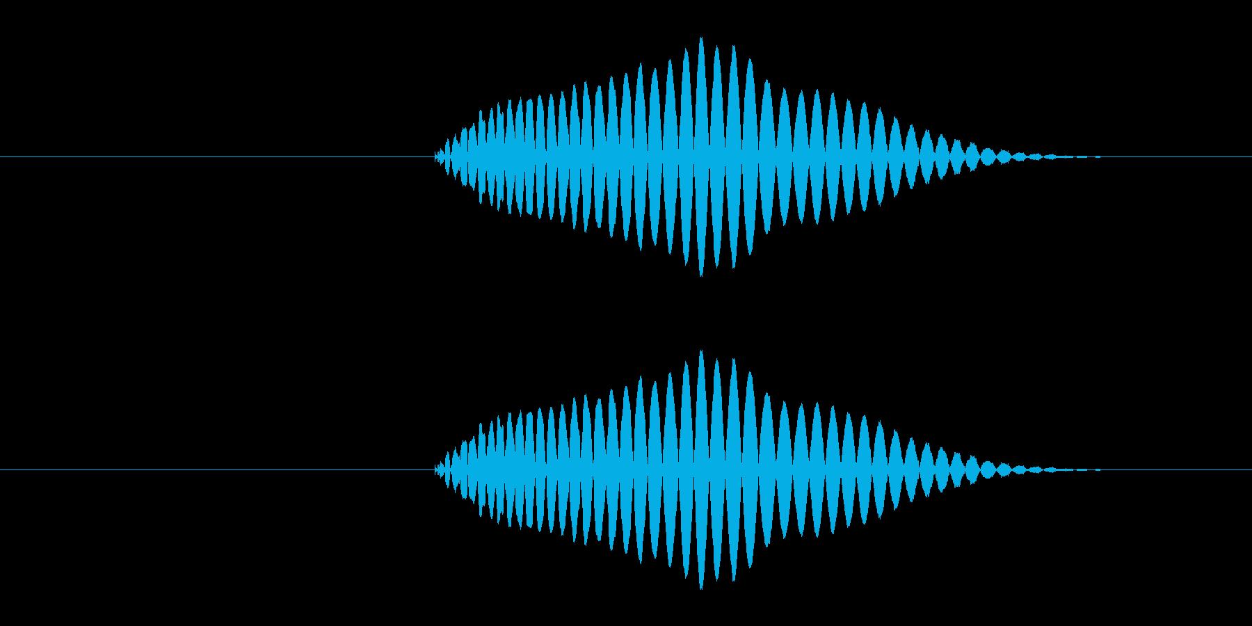 決定・キャンセル音1の再生済みの波形