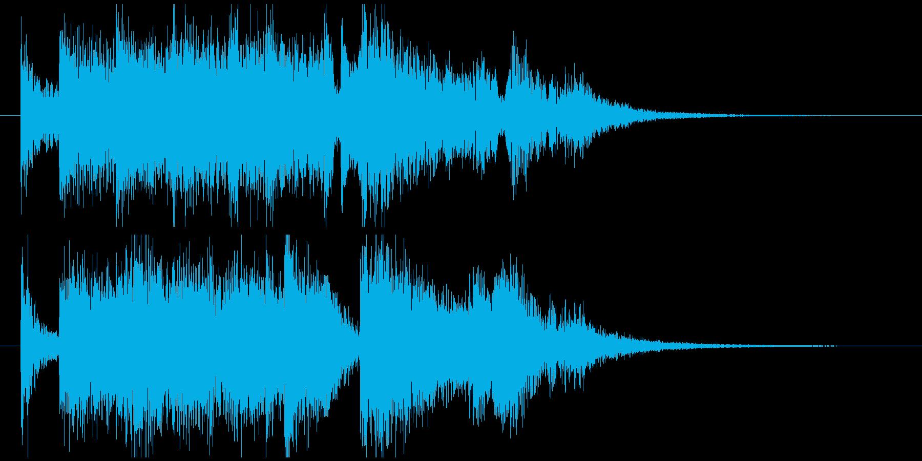 オケ・ヒットのジングルの再生済みの波形