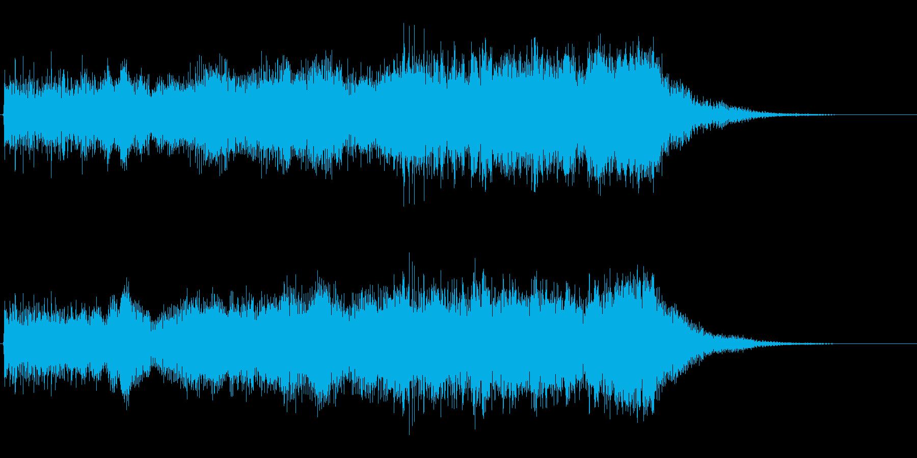 レアアイテムをドロップした時のジングルの再生済みの波形