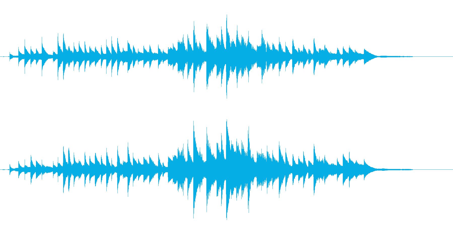 切なく優しいピアノ曲の再生済みの波形