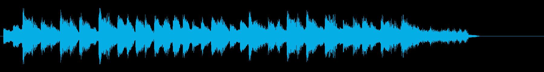道化っぽいワルツ風のジングルの再生済みの波形