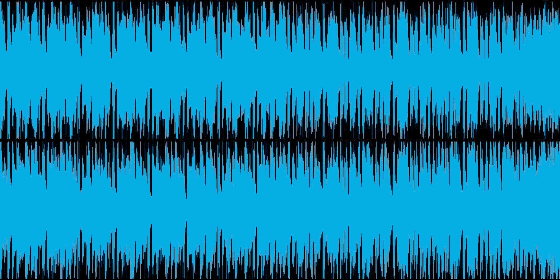 和風動画向け琴フュージョンループ1の再生済みの波形
