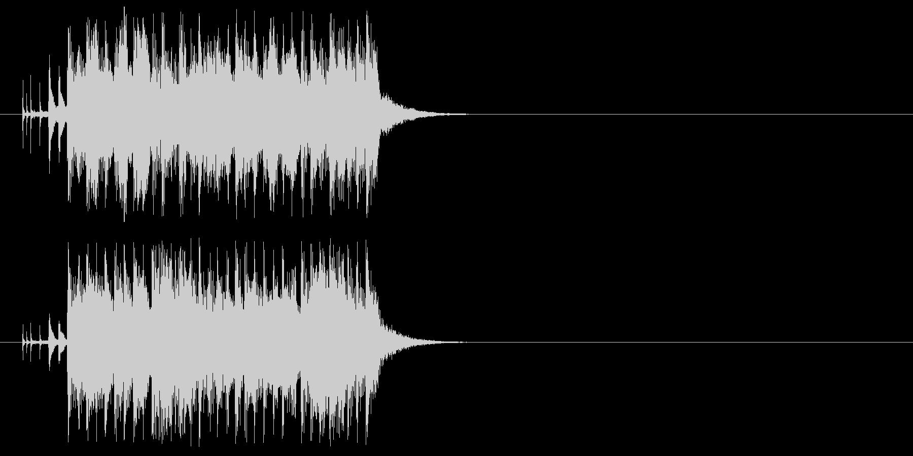 ピアノと管楽器が特徴的なジングルの未再生の波形