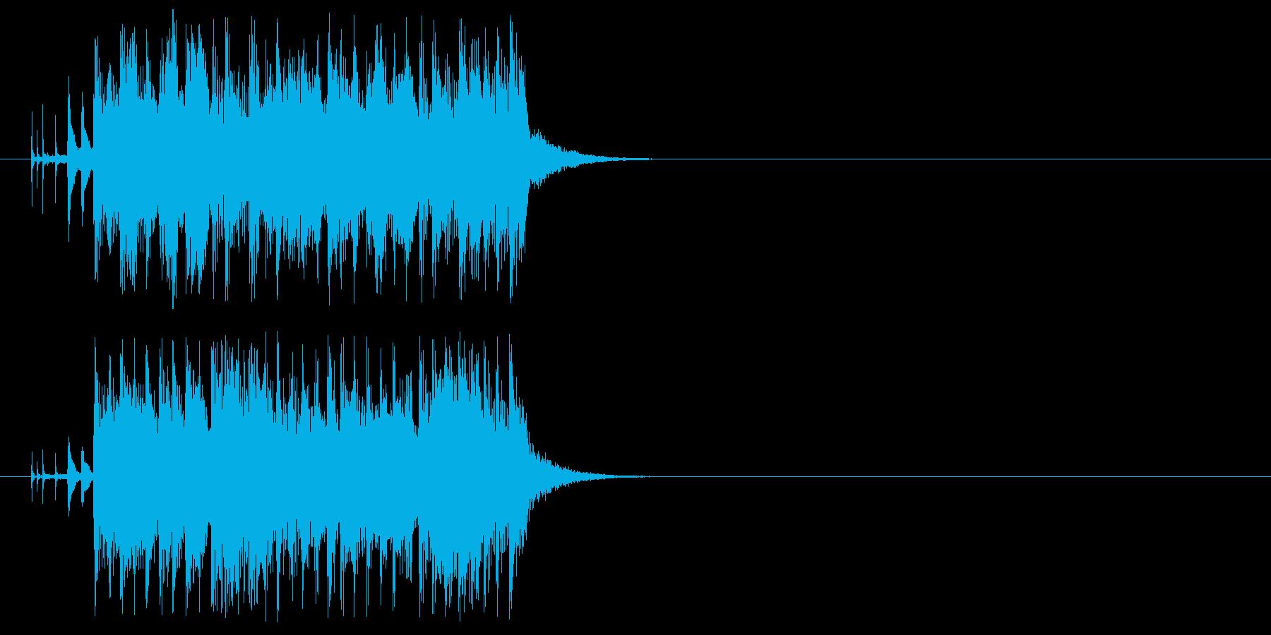 ピアノと管楽器が特徴的なジングルの再生済みの波形