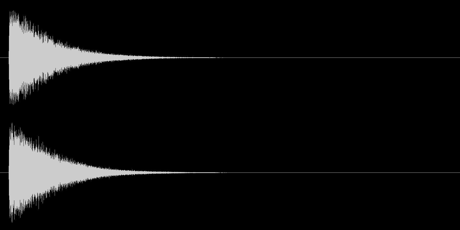 ガシーン(軽め、鉄系)の未再生の波形