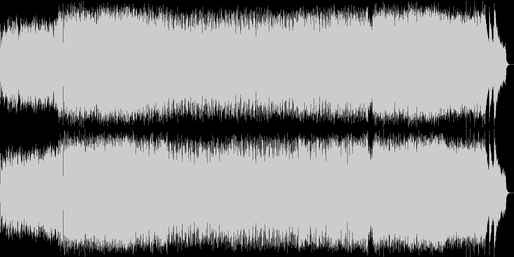 ポップで躍動感のある曲の未再生の波形