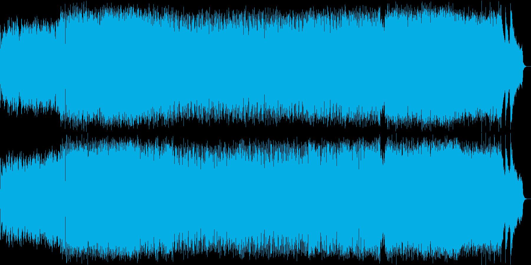 ポップで躍動感のある曲の再生済みの波形