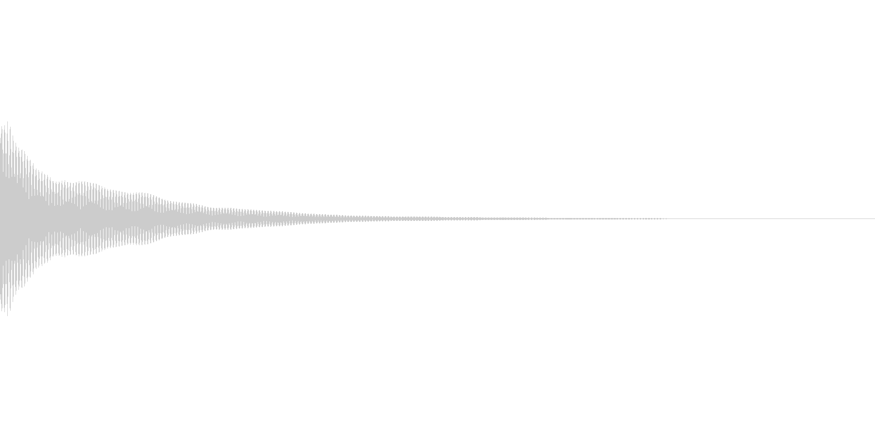 ベルが振動する音の未再生の波形