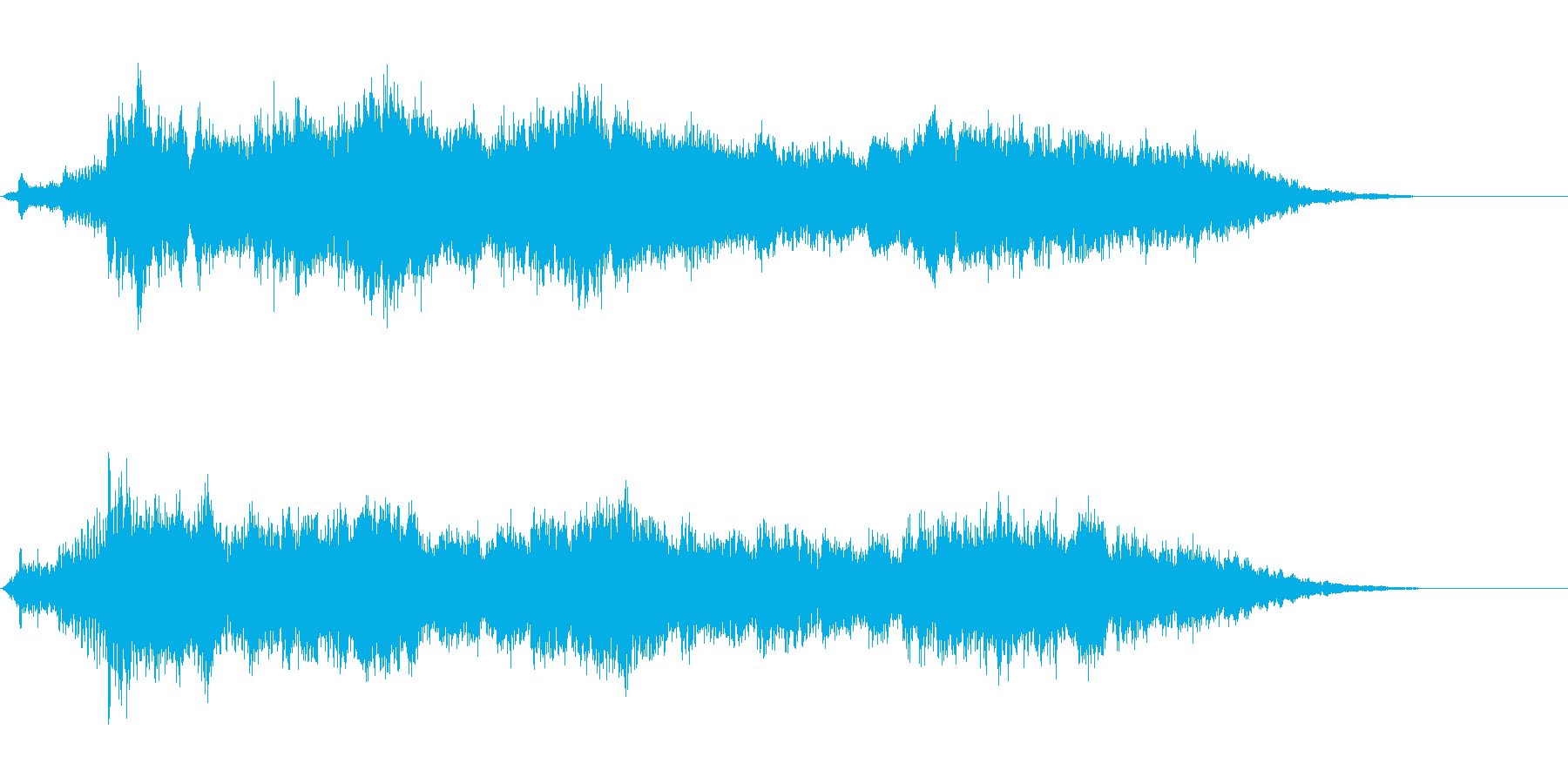 風がテーマのアイキャッチ音の再生済みの波形