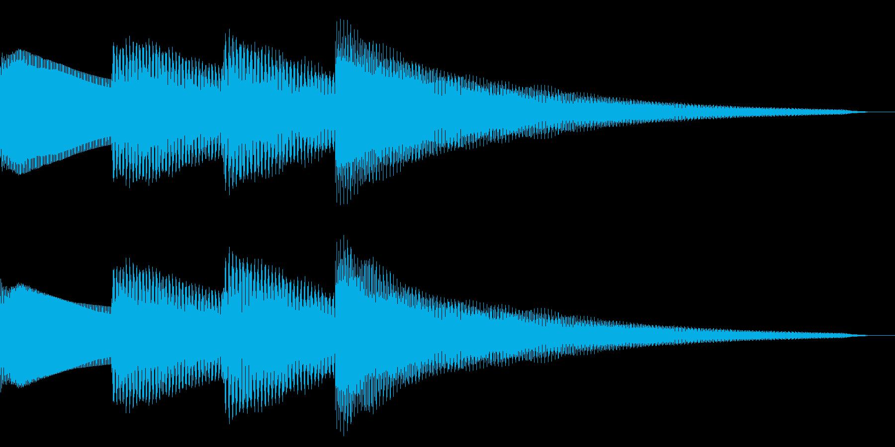 ピンポンパンポン/お知らせ/チャイムの再生済みの波形