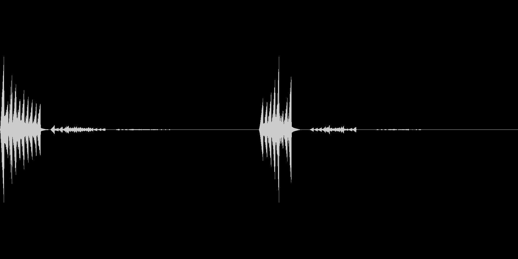 ボタン、スタートオン&オフ、ピロリンの未再生の波形