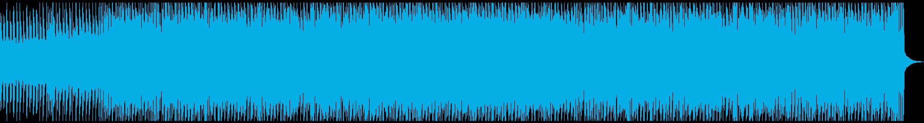 ちょっと暗めなダンスミュージック風の再生済みの波形