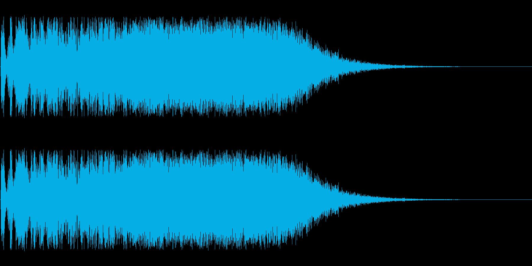 特撮にありそうな攻撃音の再生済みの波形
