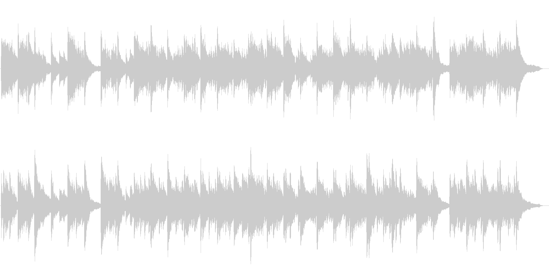幻想的で綺麗なピアノBGM8の未再生の波形