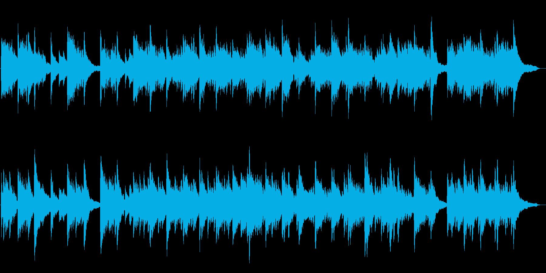 幻想的で綺麗なピアノBGM8の再生済みの波形