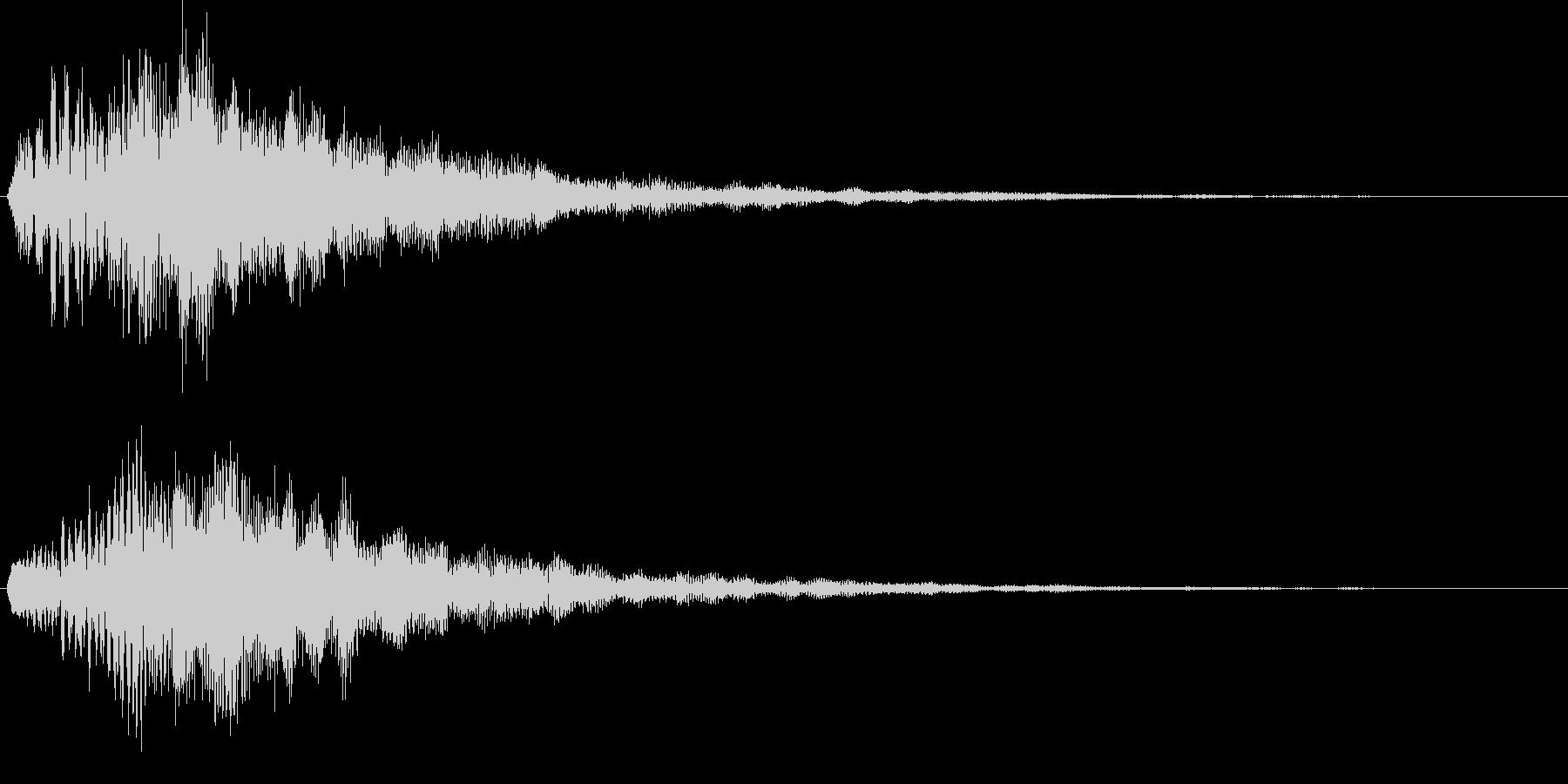やわらかめ上昇音 チャララン キラキラの未再生の波形