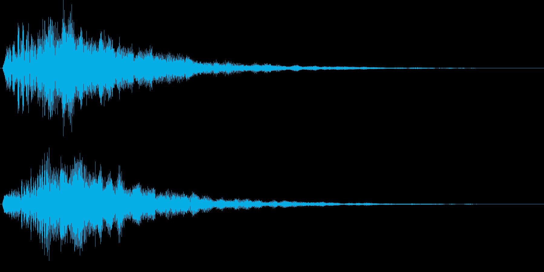 やわらかめ上昇音 チャララン キラキラの再生済みの波形
