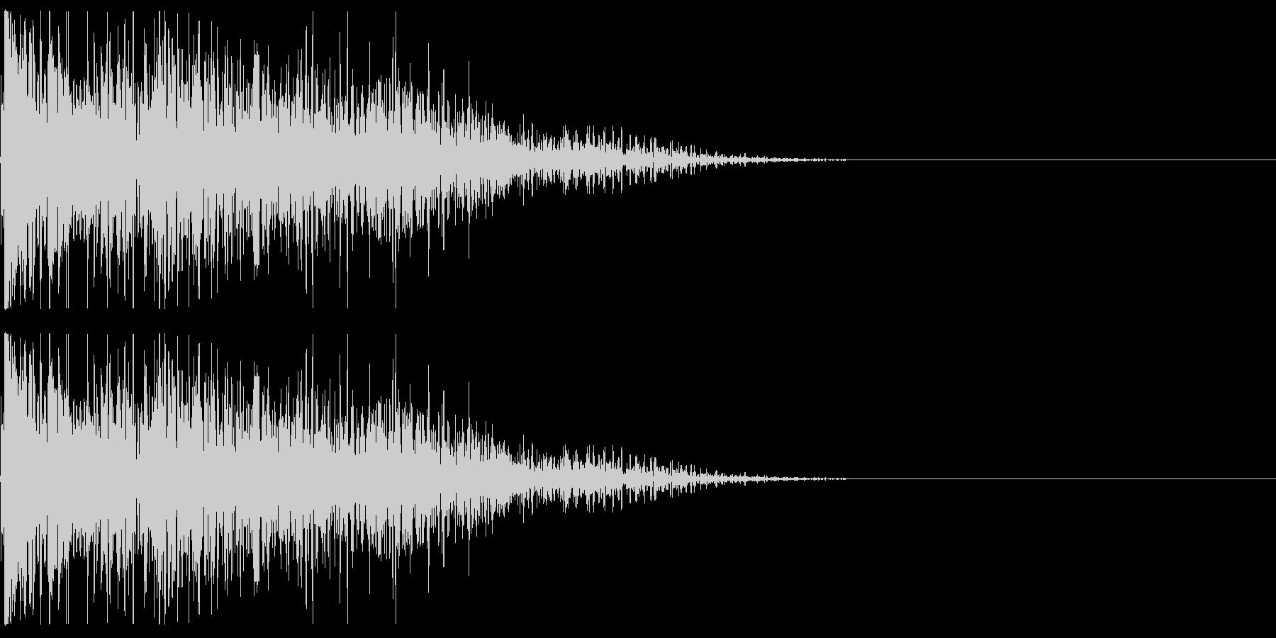 キャラクタが倒れる02(重い系)の未再生の波形