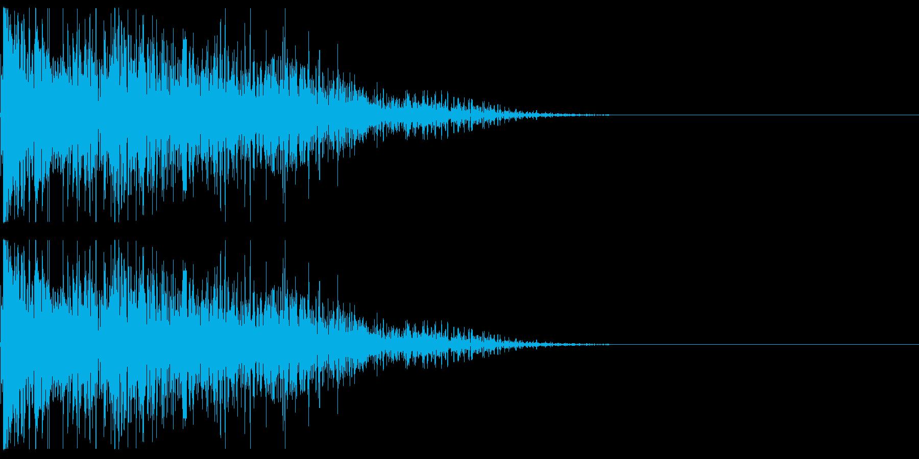 キャラクタが倒れる02(重い系)の再生済みの波形