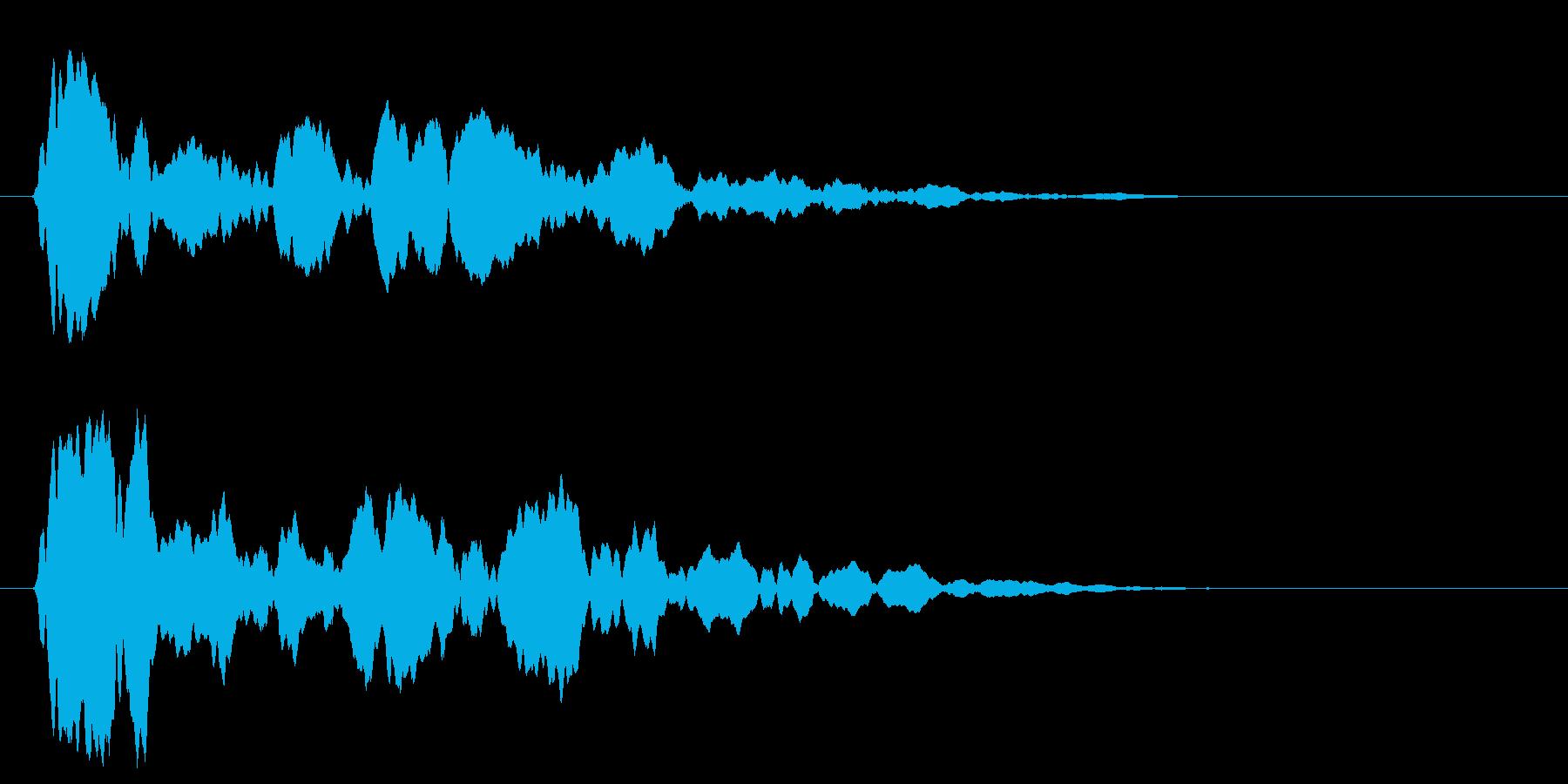 シャーン(頭に響く鈴の音)の再生済みの波形