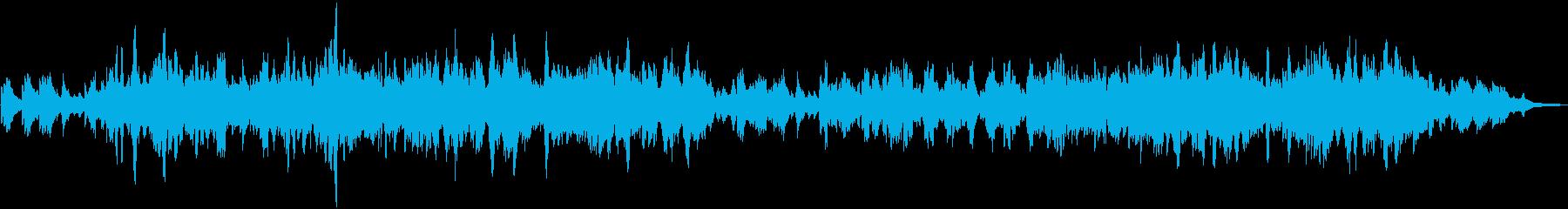 二胡の生演奏による哀愁のある曲の再生済みの波形