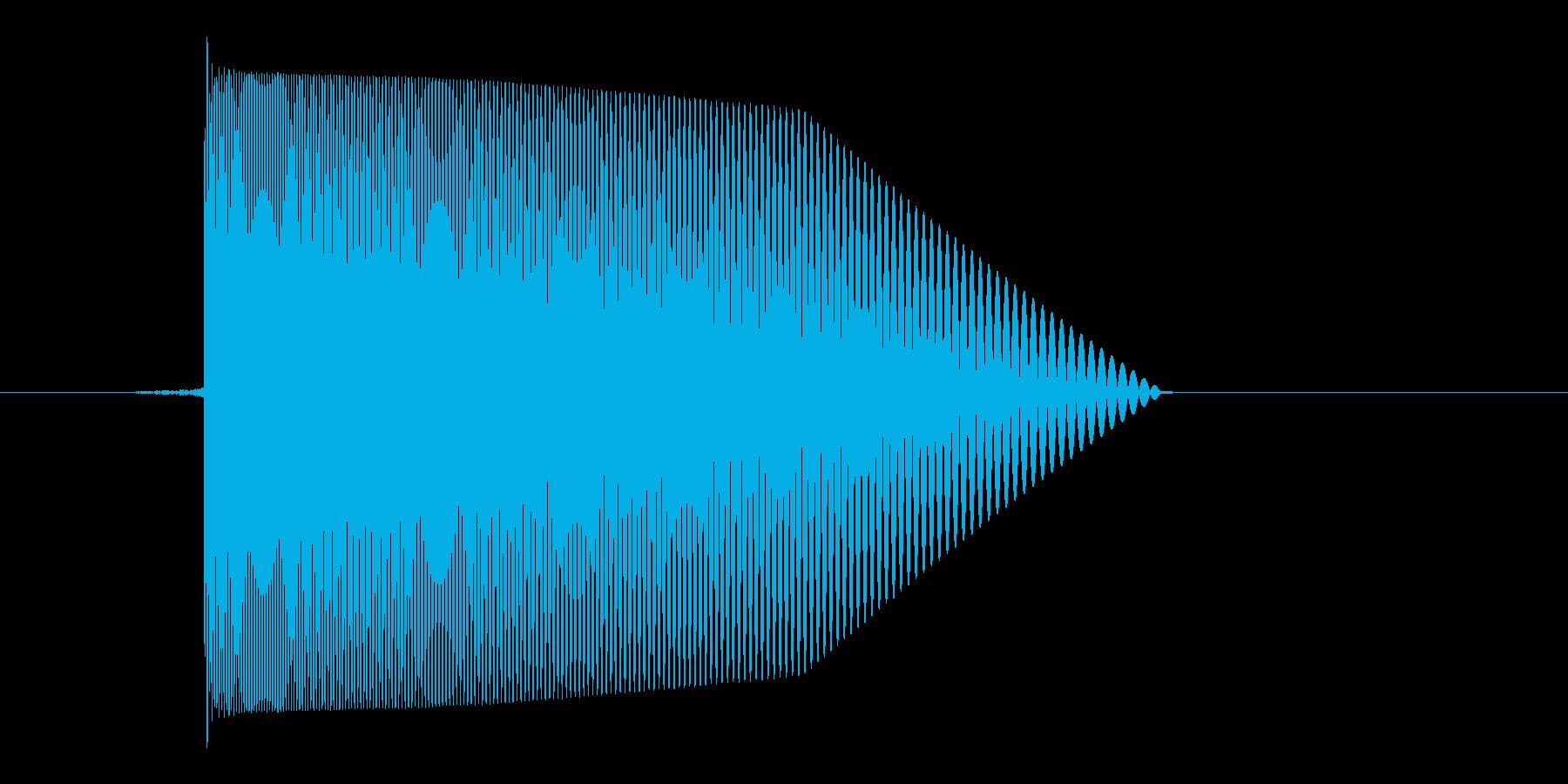 ゲーム(ファミコン風)レーザー音_035の再生済みの波形