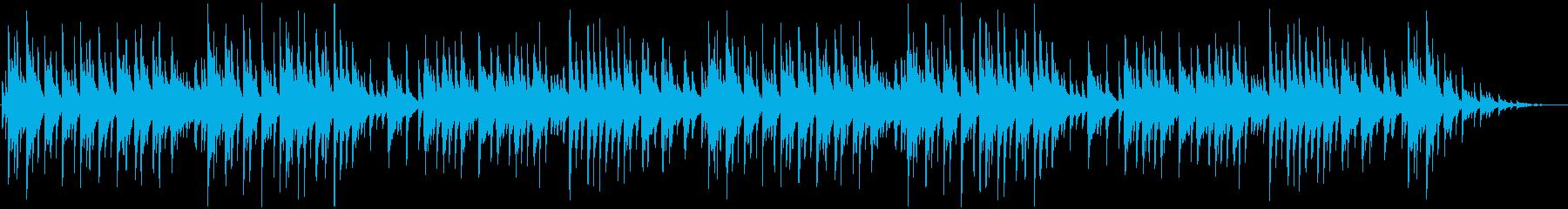 切ない雰囲気のピアノ曲の再生済みの波形