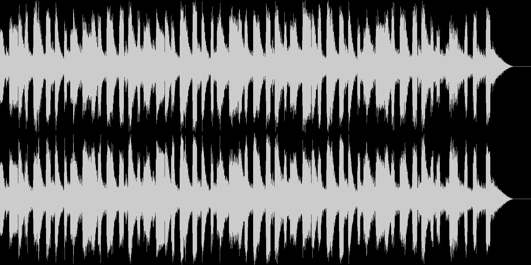 おしゃれで雰囲気があるBGMの未再生の波形