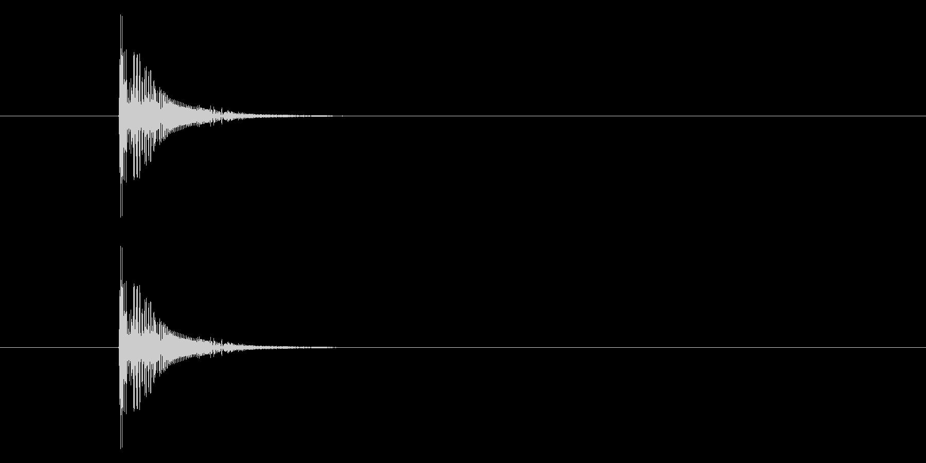 ボーン ビヨビヨ なゲームの爆発音ですの未再生の波形